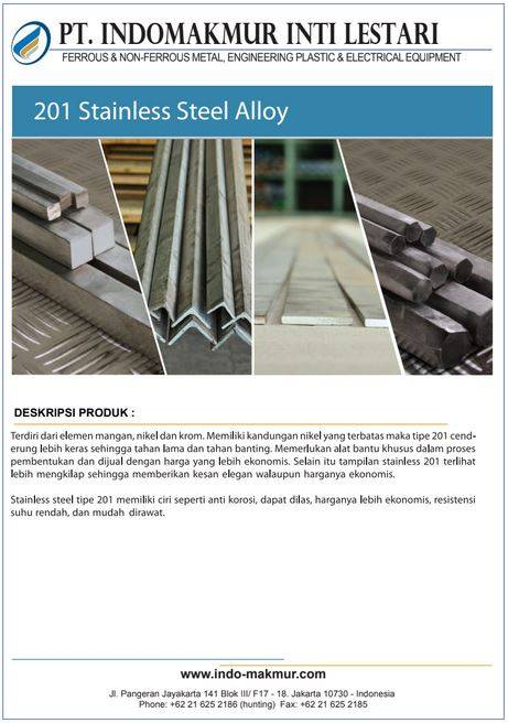 201 Stainless Steel Alloy