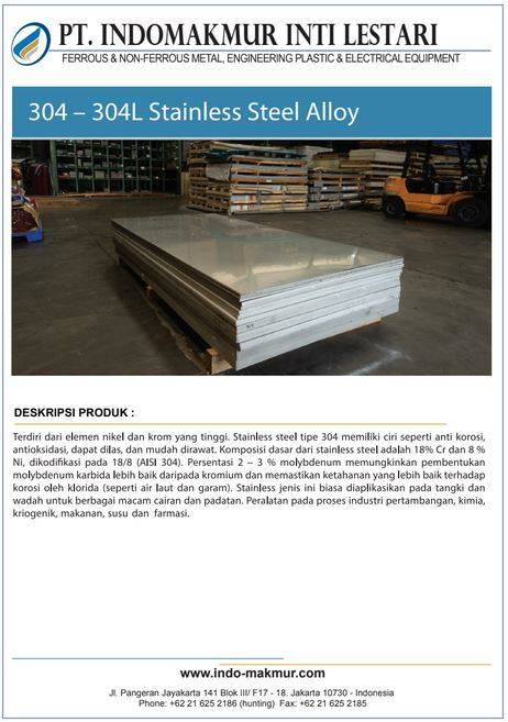 304-304 Stainless steel Alloy