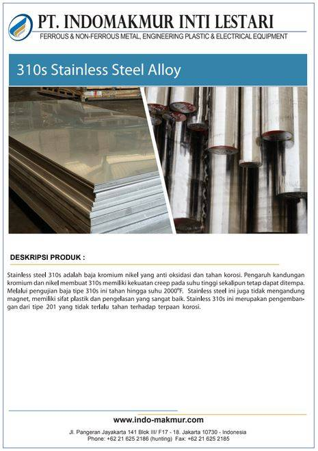 310s Stainless Steel alloy