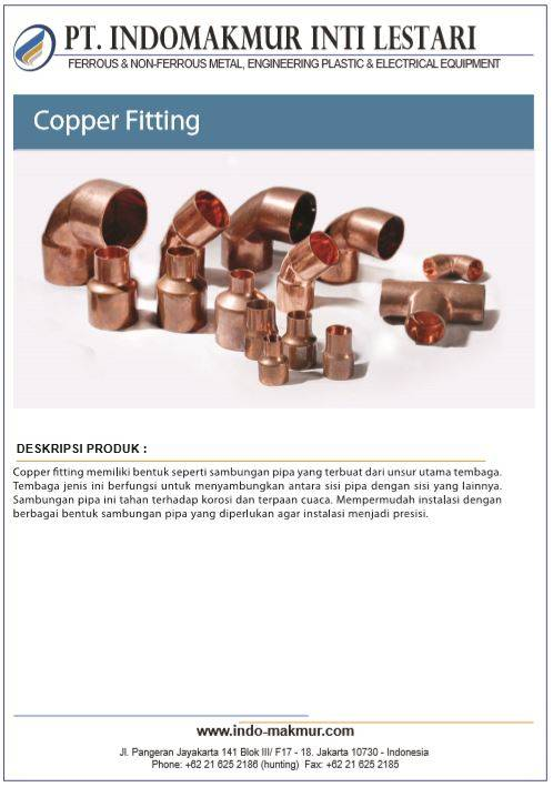 Copper Tube, Pipe & Fitting